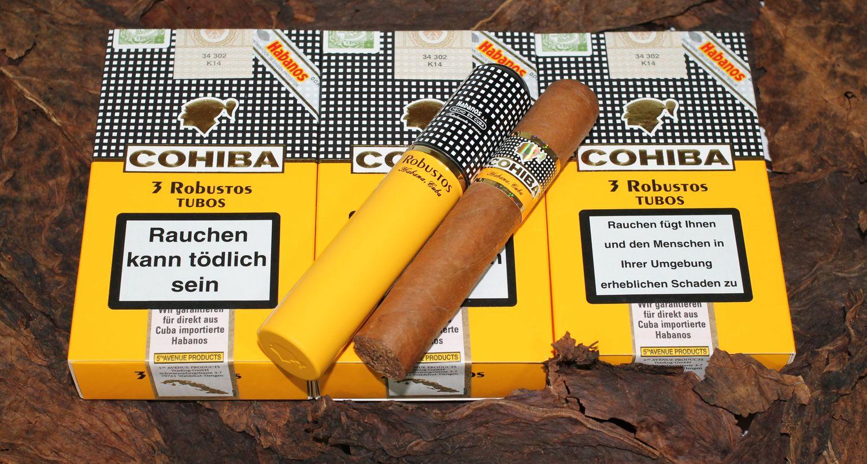 xì gà cohiba robustos tubos